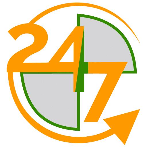 Logo công ty vệ sinh nhanh 24/7