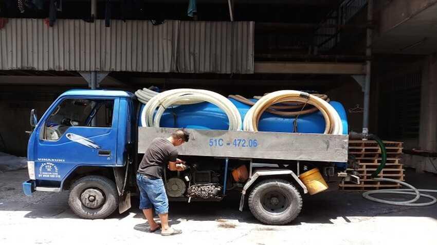 hút hầm cầu tại phường Tân Chính, quận Thanh Khê